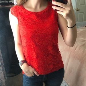 NY&C   Red Lace Top   XS